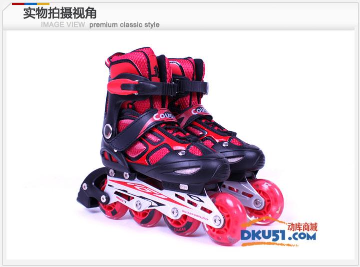 美洲狮MS835LSG直排轮溜冰鞋儿童可调轮滑鞋套装旱冰鞋带闪光 1