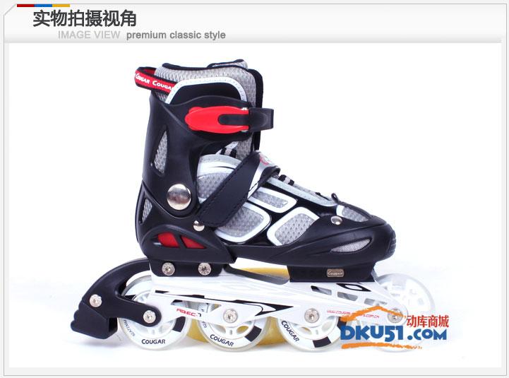 美洲狮MS835LSG直排轮溜冰鞋儿童可调轮滑鞋套装旱冰鞋带闪光 2