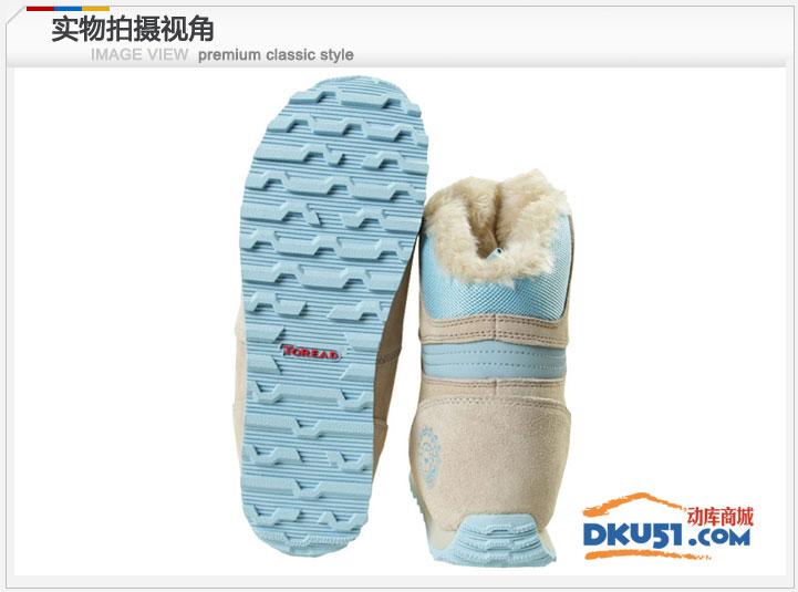 秋冬新品探路者Toread女士保暖冬靴雪地靴防滑TFDA92001 34