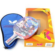 蝴蝶TBC401乒乓球成品拍 横拍/直拍 赠拍套 双反胶
