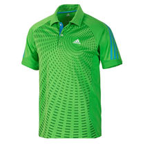 adidas 阿迪達斯 乒乓球服 T恤 男 短袖 Polo V13775綠色