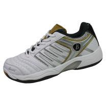 波力BONNY無限B902專業羽毛球鞋(耐磨、穩定)白金銀色