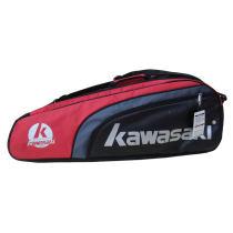 川崎/KAWASAKI TCC-053六支装羽毛球包 超值羽毛球拍包 红色