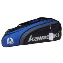 川崎/KAWASAKI TCC-053六支装羽毛球包 超值羽毛球拍包 蓝色