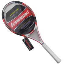 KAWASAKI/川崎 Sharp 500全碳素進階網球拍,紅白色