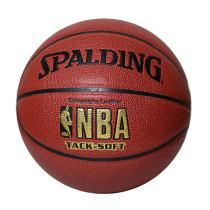 SPALDING斯伯丁 PU皮超軟NBA LOGO金色經典籃球 64-435