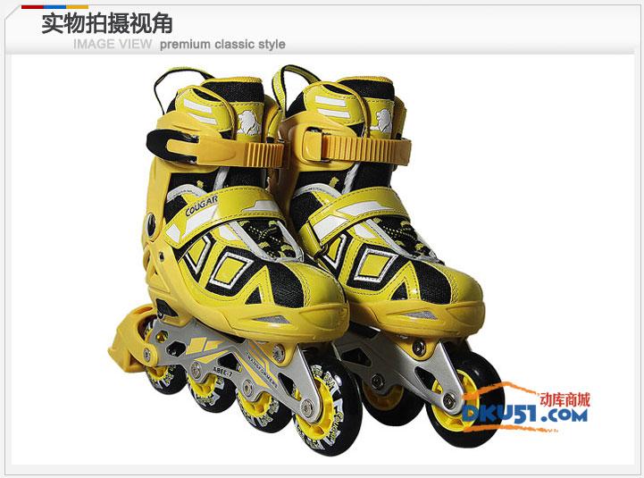 美洲獅MS839變形金剛 可調直排輪滑鞋旱冰溜冰鞋 兒童成年