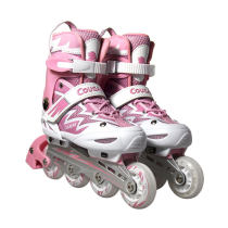 美洲獅MS835L-12粉白直排輪滑鞋男女 溜冰鞋旱冰鞋滑冰鞋