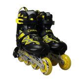 美洲狮MS835L-12黑黄直排轮滑鞋男女 溜冰鞋旱冰鞋滑冰鞋