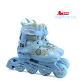 美洲狮 溜冰鞋儿童全套装 直排可调轮滑鞋旱冰鞋MS707PS