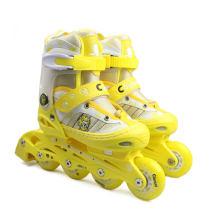 美洲獅 溜冰鞋兒童全套裝 直排可調輪滑鞋旱冰鞋MS707PS 黃色