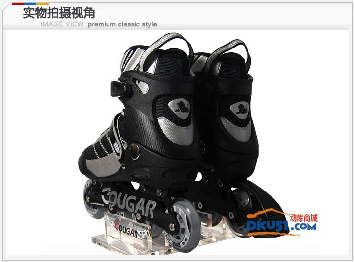 美洲狮 溜冰鞋 轮滑鞋 旱冰鞋 成年人 刷街 直排轮 MS101黑黄