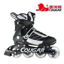 美洲獅 溜冰鞋 輪滑鞋 旱冰鞋 成年人 刷街 直排輪 MS101黑白