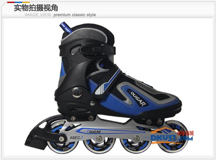 美洲狮MS103成人定码轮滑鞋/旱冰鞋/溜冰鞋蓝黑38-45码