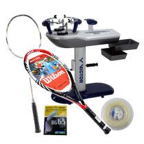 羽毛球拍、网球拍免费穿线介绍