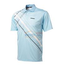 川崎Kawasski 男款羽毛球服 浅蓝印花T恤 ST-13131