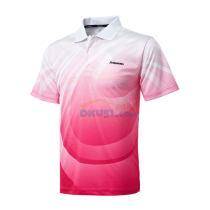 川崎 ST-13189 男款专业羽毛球 印花 比赛T恤 玫红色