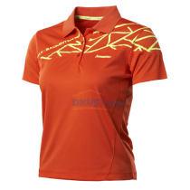 川崎ST-13248女款专业比赛T恤羽毛球服 橘色款