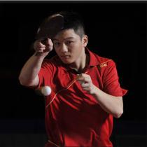 樊振東世乒賽使用球拍 底板:斯帝卡VPS+國狂藍海綿+T64