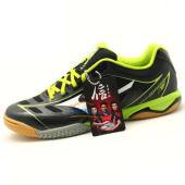 美津浓 WAVEDRIVEA2 18KM81GA140009 超轻量乒乓球鞋 黑绿款