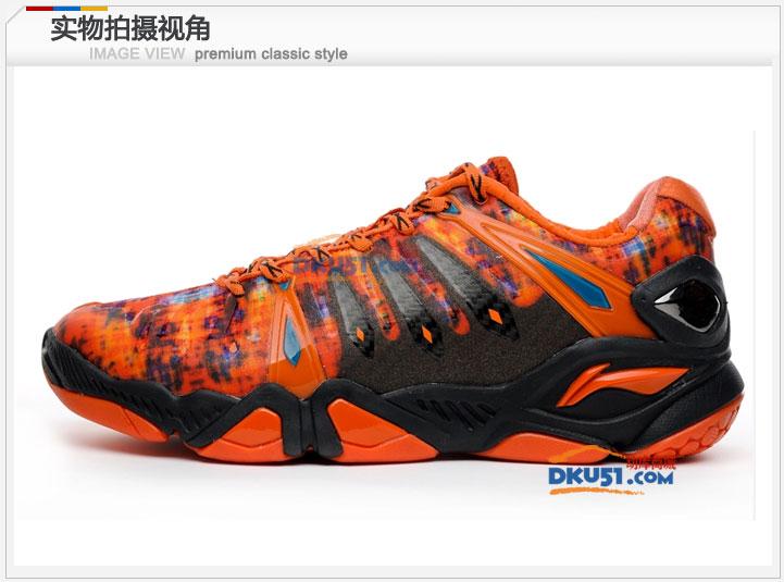 李宁AYAH009-3男款羽毛球鞋 HERO二代橙色 最骚配色!
