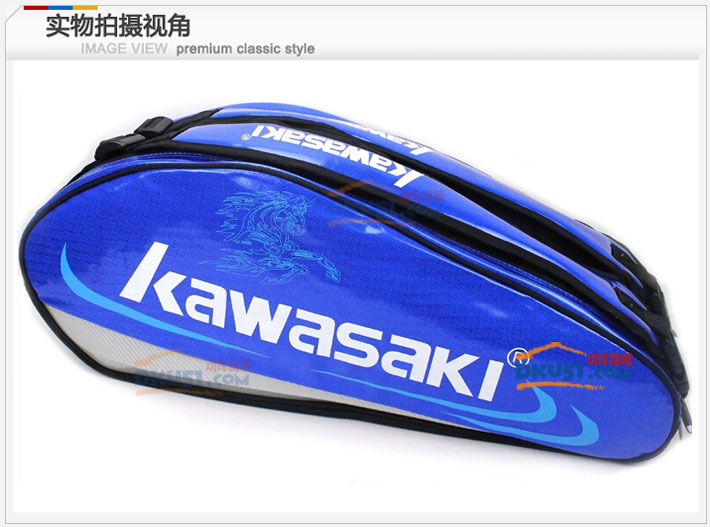 川崎KAWASAKI KBB-8630 6支装双肩羽毛球包(耐磨皮料 锡箔隔热层)