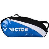 胜利VICTOR蓝色6支装羽毛球包 BR213PR-F(李龙大、纳西尔签名羽包)