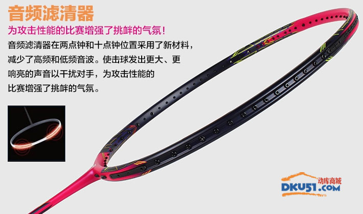 YONEX尤尼克斯VTZF2-LCW 限量版進攻型羽毛球拍(讓你揮拍自如,扣殺強勁)