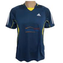 ADIDAS阿迪達斯 Z12717 深藍/鮮黃 乒乓球短袖球服