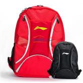 LINING李宁ABJH076-1-2国家队双肩羽毛球背包(黑色 红色)