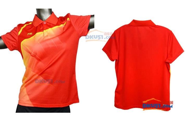李宁 AAYH234-7 女款羽毛球短袖T恤 省队专用服装
