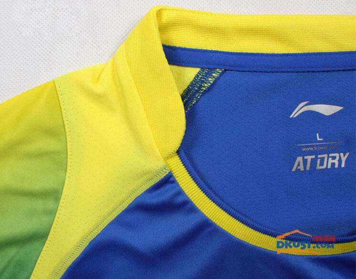 李宁 AAYK093-1 中青队赞助款男款羽毛球服 2015年新款