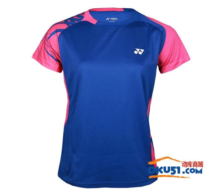 YONEX尤尼克斯 CS2136-112 女款羽毛球T恤 蓝色款