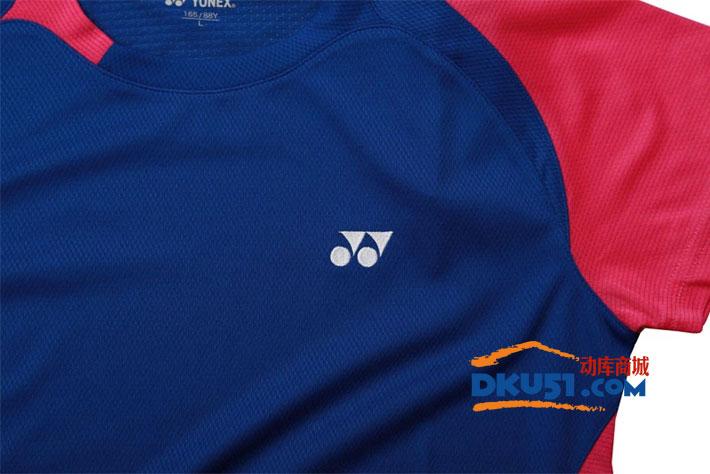 YONEX尤尼克斯 CS2136-112 女款羽毛球T恤 藍色款