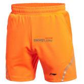 李宁 苏迪曼杯羽毛球比赛短裤 AAPK075-3(荧光橙款)