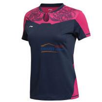 李宁2015新品 AAYK188-1 女款世乒赛乒乓球球服(深豌蓝)