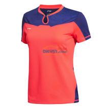 李宁2015新品 AAYK188-2 女款世乒赛乒乓球球服(荧光耀红)