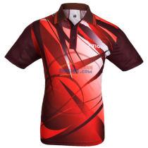 STIGA斯帝卡 CA-23141 紅色印花乒乓球比賽T恤 2015最新款