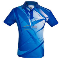 STIGA斯帝卡 CA-23121 蓝色印花乒乓球比赛T恤 2015最新款