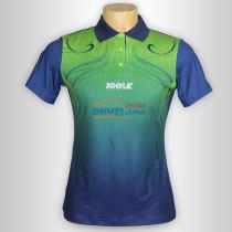 JOOLA优拉 心花怒放683 蓝绿色女款乒乓球短袖(莱卡纤维布材质)