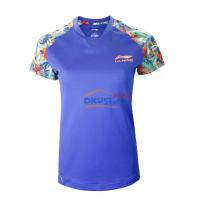 李宁乒超联赛女款乒乓球运动服 AAYK266-2T恤 蓝色款