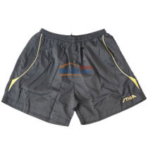 STIGA斯帝卡 G130214 黑黄专业乒乓球短裤(轻便,透气)