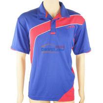 stiga斯帝卡 CA-251214 藏青+红色 专业乒乓球比赛服(透气,速干)