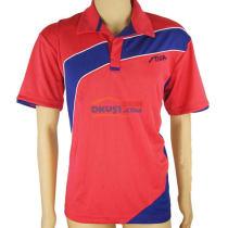 stiga斯帝卡 CA-251413 紅色+藏青 拼花乒乓球比賽服(透氣,速干)