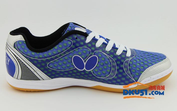 新款BUTTERFLY蝴蝶 UTOP-8 超輕乒乓球鞋 清新藍色