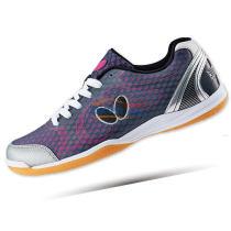 新款BUTTERFLY蝴蝶 UTOP-8 超轻乒乓球鞋 紫灰亮骚