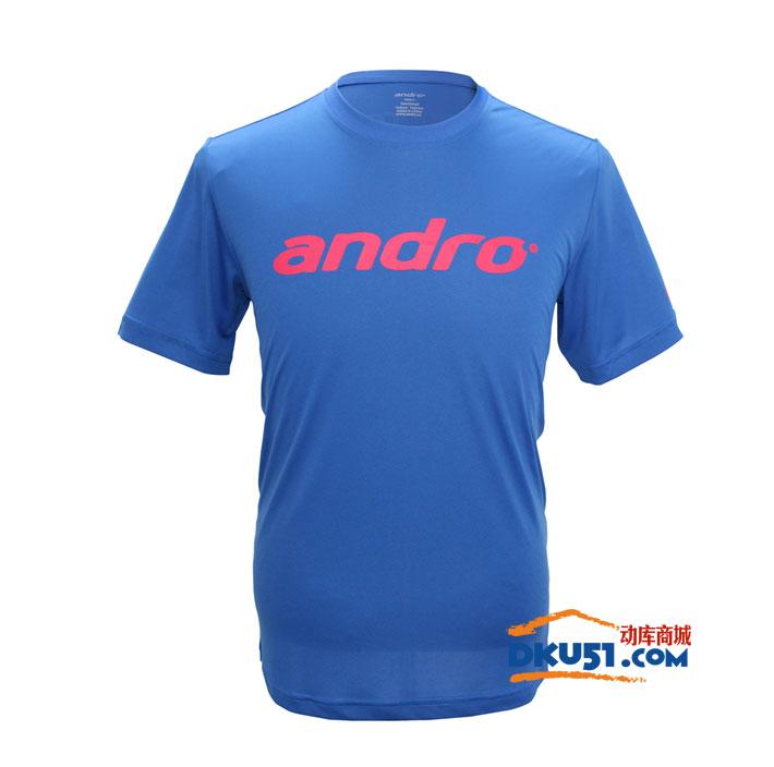 andro岸度 302050 蓝色款 乒乓球圆领T桖(超轻 透气)
