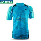 YONEX尤尼克斯 110106BCR-489 蓝色男款V领衫羽毛球服