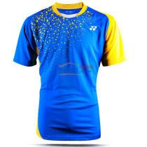 YONEX尤尼克斯 110186BCR-786 藍色男款圓領衫羽毛球服