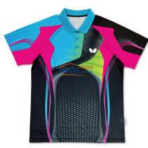 2016新款蝴蝶 BWH-267-1402 乒乓球服短袖(蓝粉黑款)